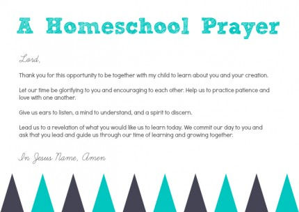 Homeschool Prayer
