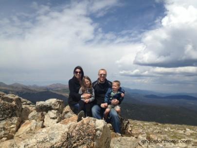Family on Mountain