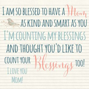 Blessings Jar Mother's Day Tag