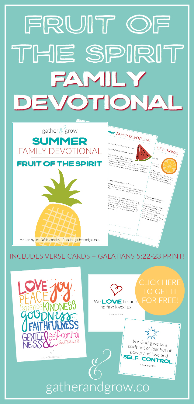 Family Fruit of the Spirit Devotional