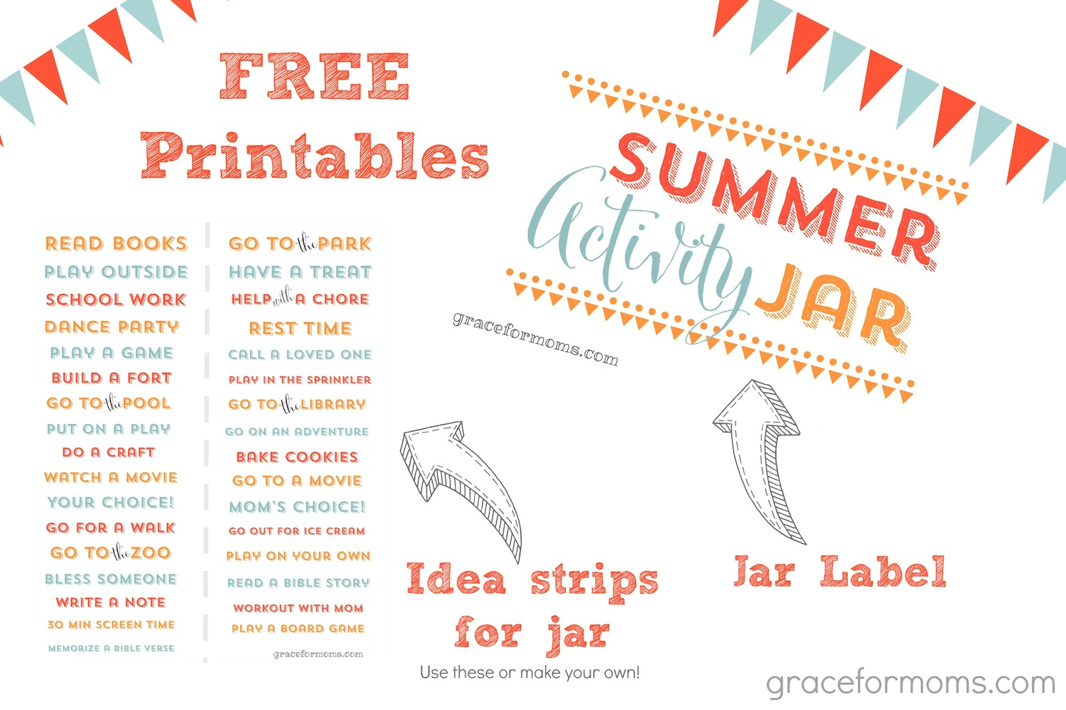 Summer Activity Jar Free Printables