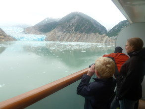 Binoculars came in handy to get a better view of the seals and birds on the icebergs.