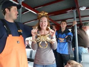 Crabbing was a blast