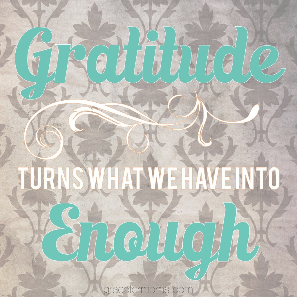 Gratitude Turns What We Have Into Enough