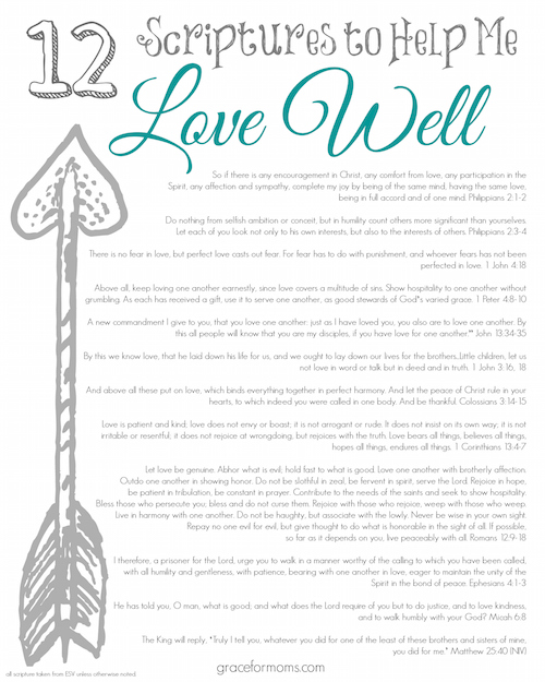 12 Scriptures to Love Well SM