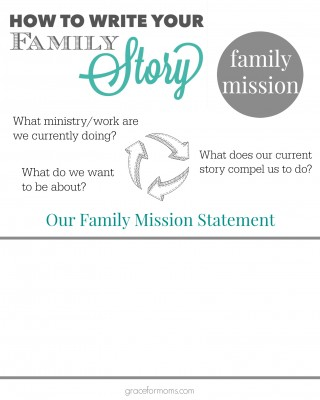 Family Story Mission Worksheet