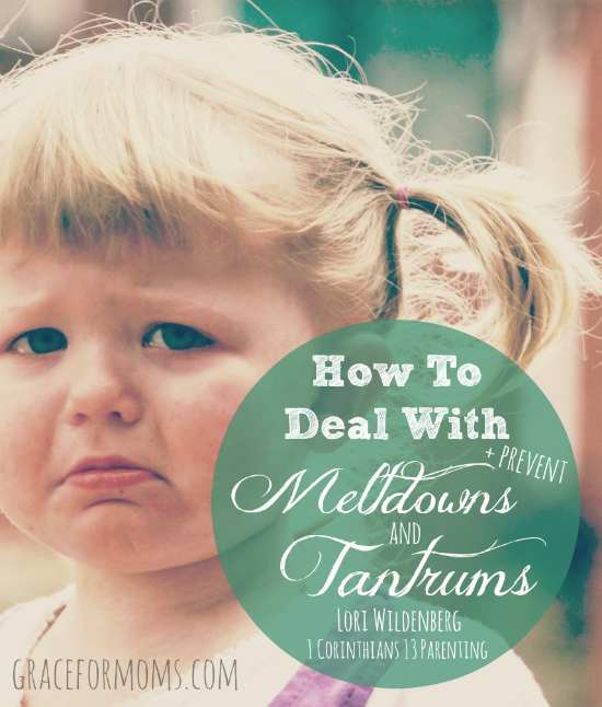 How to Deal With and Prevent Meltdowns and Tantrums