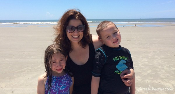 Jess and Kids on Beach