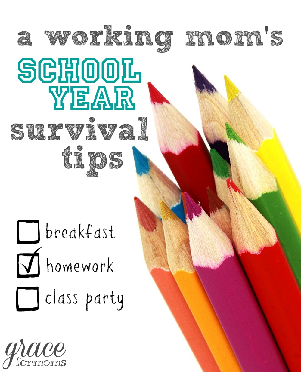 Working Mom's School Year Survival Tips
