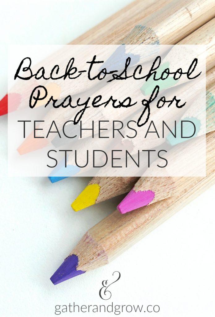back to school prayers