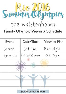 Family Olympic Schedule Example