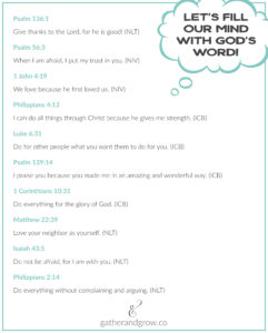 Bible Verses Kids can Memorize