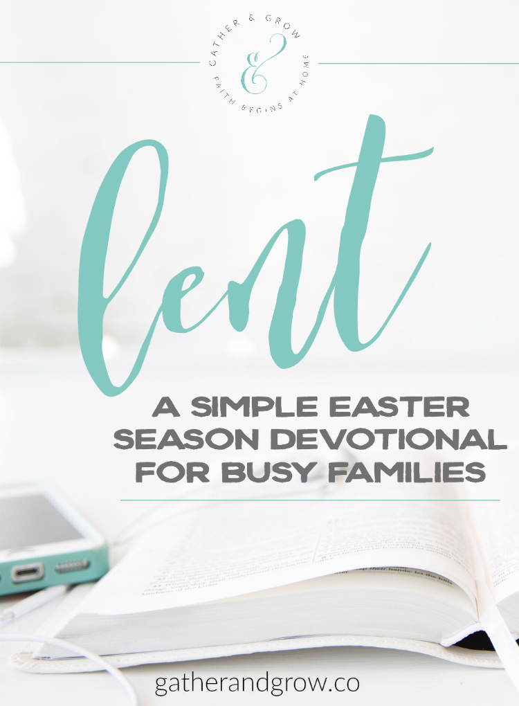 family lent and easter devotional