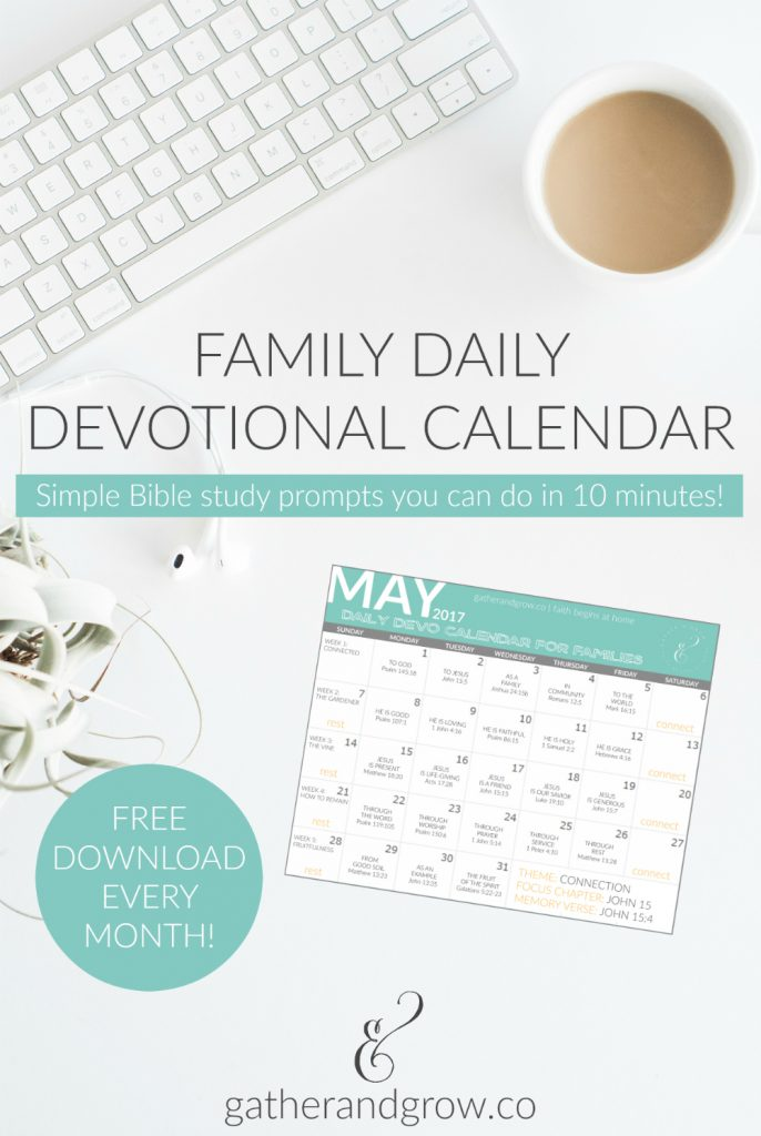 Family Daily Devotional Calendar