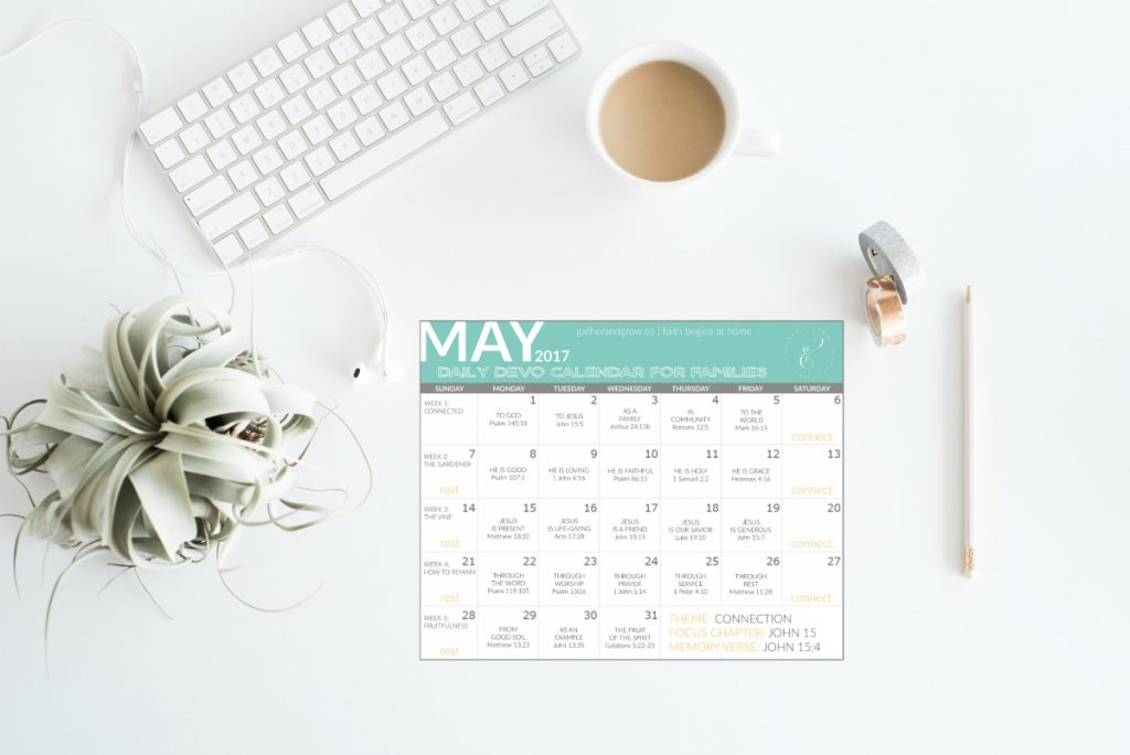 Family Daily Devotional Calendar