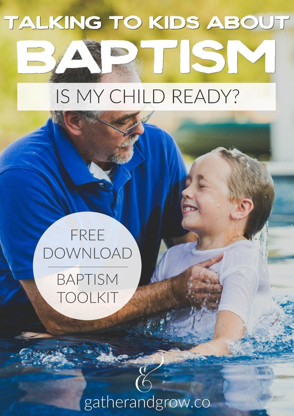 Talking to Kids About Baptism - Free Toolkit