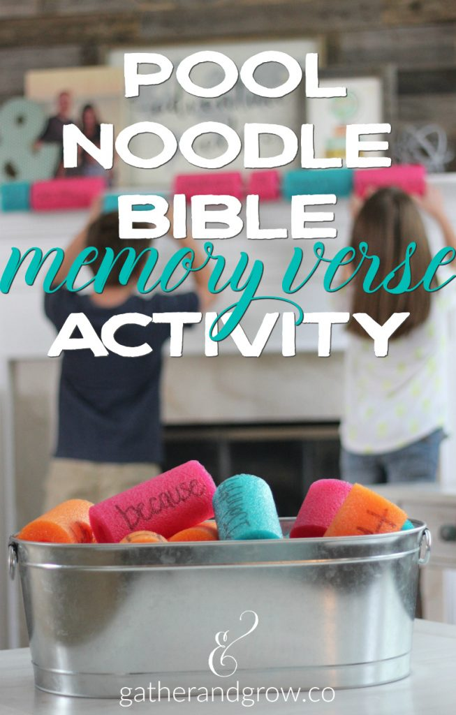 Pool Noodle Bible Memory Verse Activity