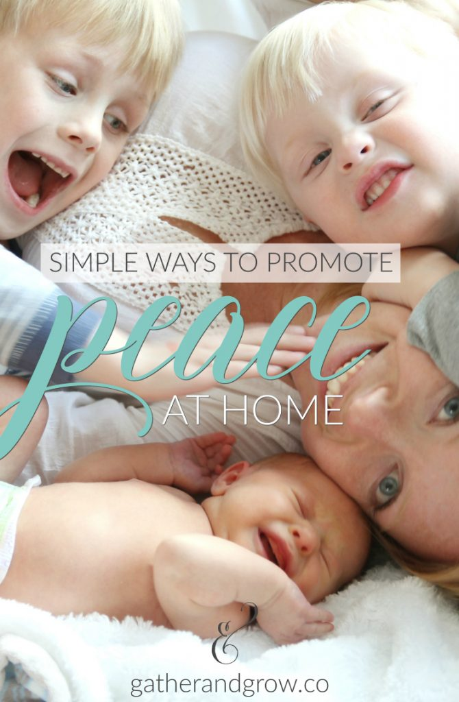 Promote Peace at Home