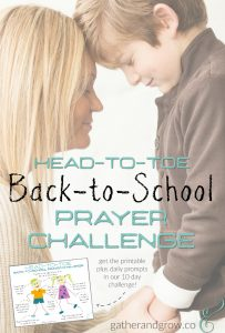 back to school prayer challenge