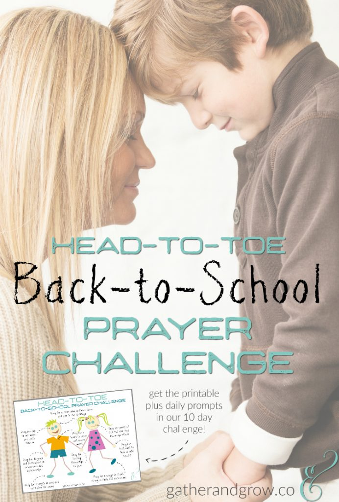 back to school prayer challenge