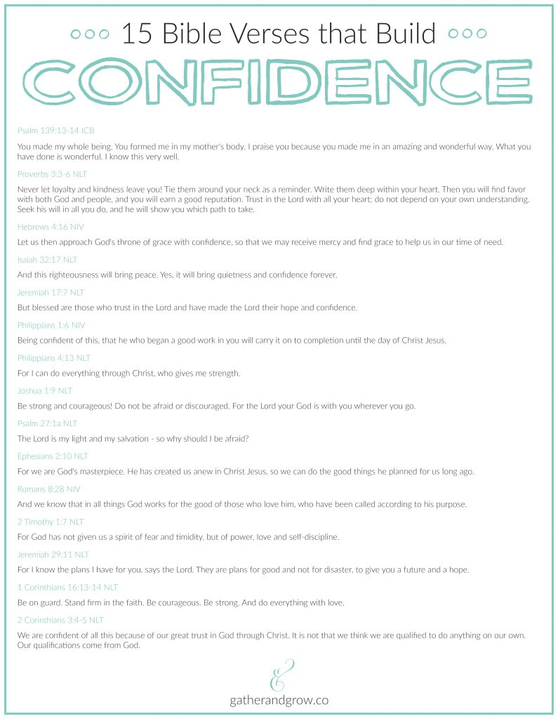 Bible verses that build confidence
