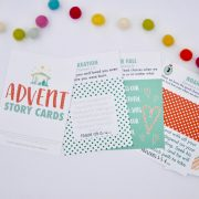 These Advent Story Cards give families a fun and simple way to journey to Jesus this Christmas season. Each story card covers a big Bible moment from Genesis to Jesus' birth inviting your children into God's Story and reminding them why it's our story, too.