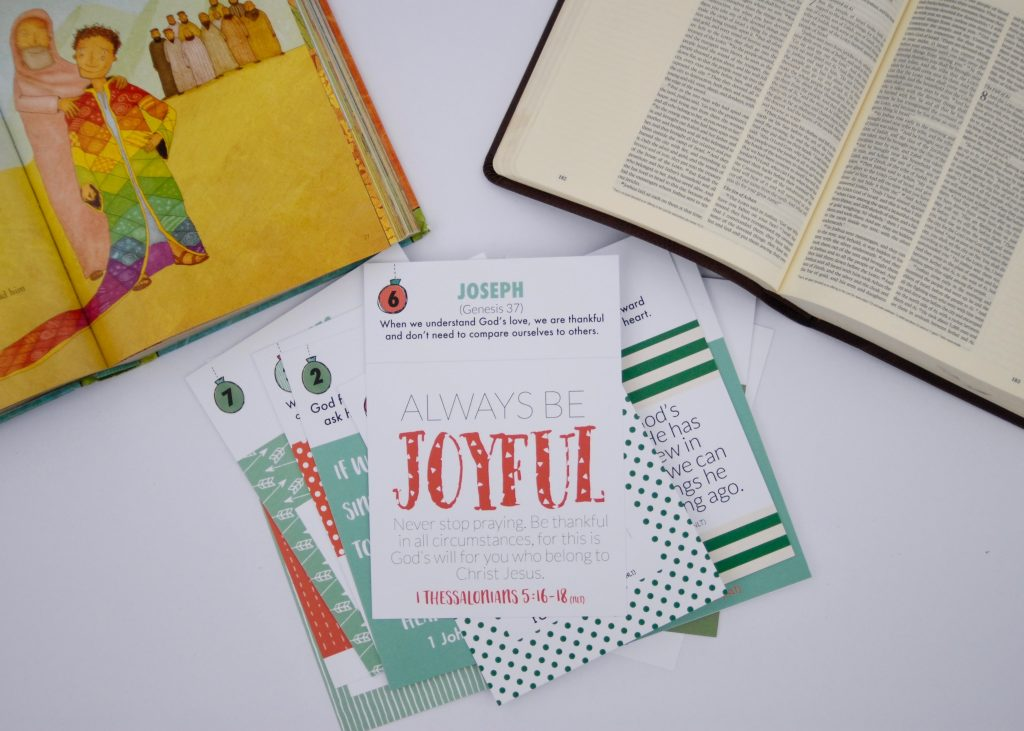 Lead your kids through a meaningful Christmas countdown with these adorable Advent Story Cards. Share big Bible moments that tell God's story of why and how Jesus came to rescue us.