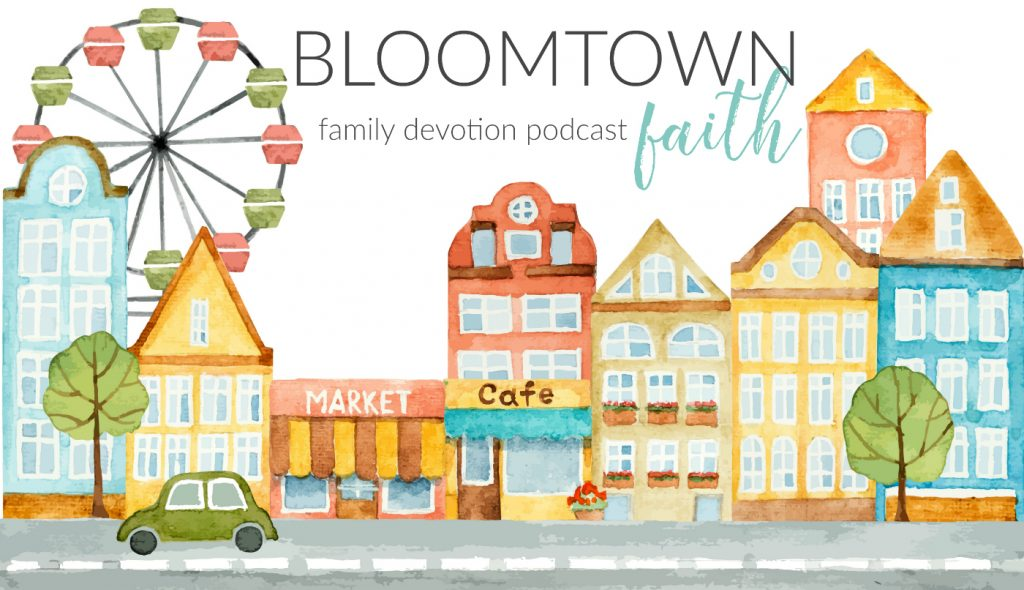 The Bloomtown Faith family devotion podcast makes faith-building simple so your busy family can grow together. Each season of the podcast includes short devotions you can listen to and discuss in 10 minutes or less. It covers big Bible moments, life-changing memory verses and simple take-aways that will help your family follow Jesus everyday.