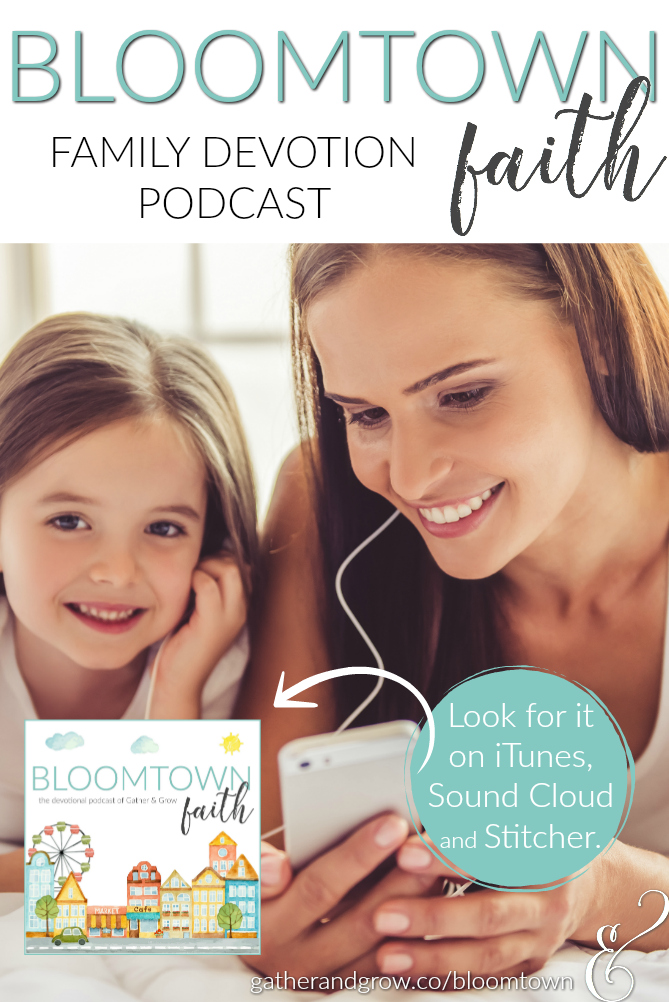 The brand new Bloomtown Faith family devotion podcast makes faith building simple so your busy family can grow together. Each season of the podcast includes simple devotions you can listen to and discuss in 10 minutes or less. It covers big Bible moments, life-changing memory verses and simple take-aways that will help your family follow Jesus everyday.